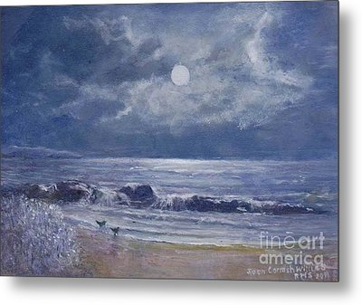 Moonglow Metal Print by Joan Cornish Willies