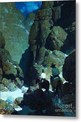 Moonlight Canyon Metal Print by Pg Reproductions