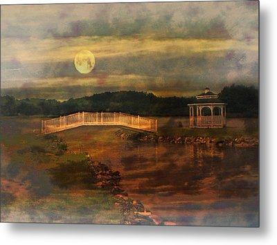Moonlight Stroll Metal Print by Kathy Jennings
