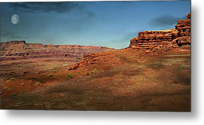 Moonrise On The Mesa Metal Print by Marty Koch
