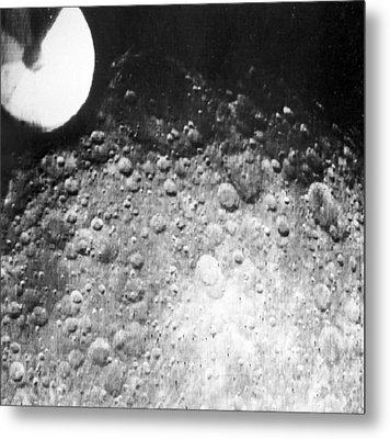 Moon's Surface, Zond 3 Image Metal Print by Ria Novosti