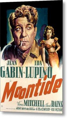Moontide, Jean Gabin, Ida Lupino, 1942 Metal Print by Everett