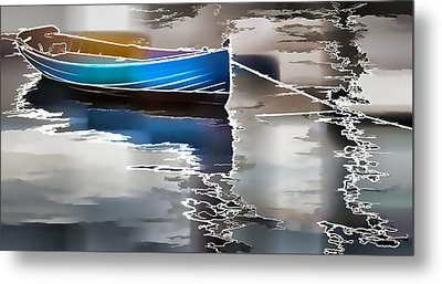 Moored Metal Print by Alice Gipson