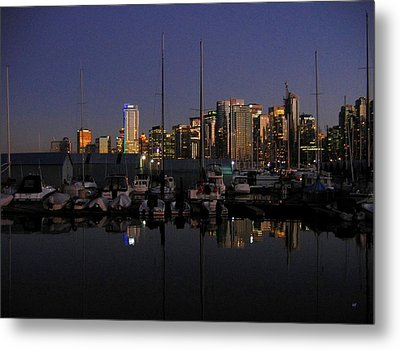 Moored For The Night Metal Print by Will Borden