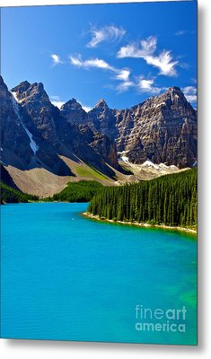 Moraine Lake Metal Print by James Steinberg and Photo Researchers