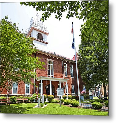 Morgan County Courthouse Metal Print by Paul Mashburn