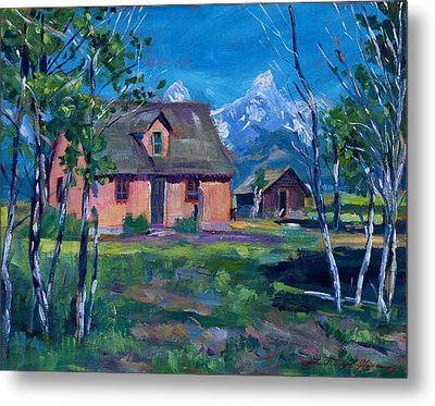 Mormon's Row Metal Print by David Lloyd Glover