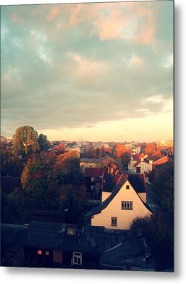 Morning In The Town Metal Print by German Savchishen
