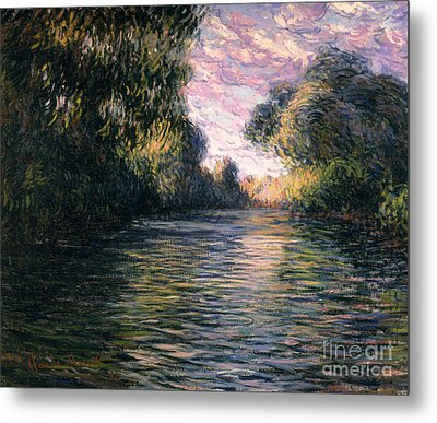 Morning On The Seine Metal Print by Claude Monet