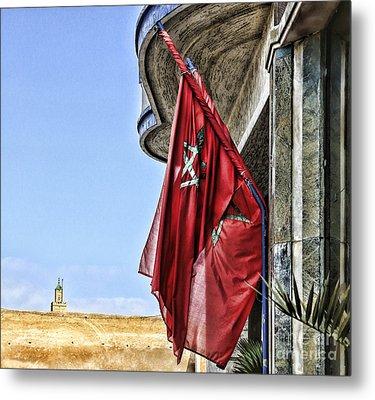 Morocco Flag I Metal Print by Chuck Kuhn