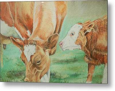 Mother And Baby Metal Print by Teresa Smith
