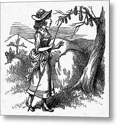 Mother Goose: Bo-peep Metal Print by Granger