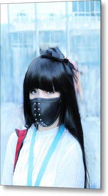 Motorbike Girly Mask Metal Print by Viktor Savchenko