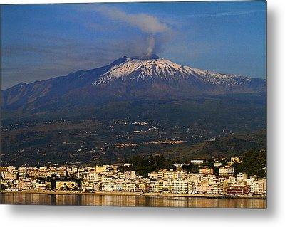 Mount Etna Metal Print by David Smith