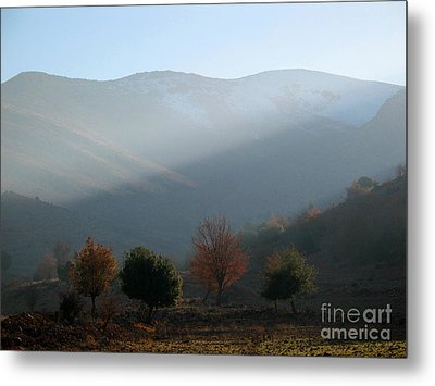 Mount Hermon In Fall Metal Print by Issam Hajjar