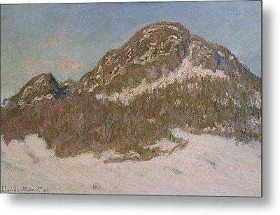 Mount Kolsaas In Sunlight Metal Print by Claude Monet