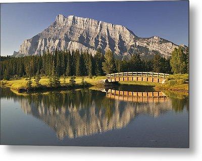 Mount Rundle And Cascade Ponds, Banff Metal Print by Darwin Wiggett
