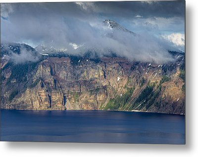 Mount Scott Cloud Shroud Metal Print by Greg Nyquist