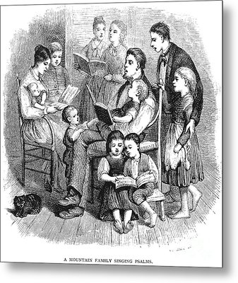 Mountain Family, 1874 Metal Print by Granger