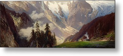 Mountain Landscape With The Grossglockner Metal Print by Nicolai Astudin