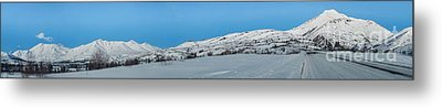 Mountain Range Along The Dempster Highway Metal Print by Priska Wettstein