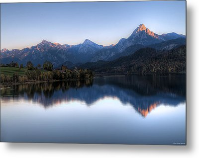 Mountain Reflections Metal Print by Ryan Wyckoff