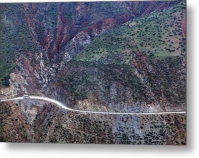 Mountain View From Tizi-n-test Pass (e 2092 Meters), Tizi-n-test Pass Road, Morocco Metal Print by Walter Bibikow