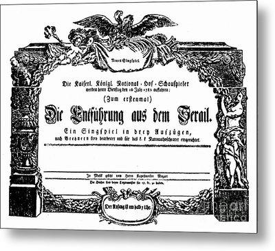 Mozart: Seraglio, 1782 Metal Print by Granger