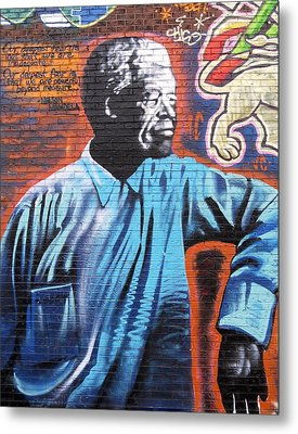 Mr. Nelson Mandela Metal Print by Juergen Weiss