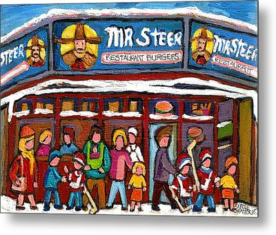 Mr Steer Restaurant Montreal Metal Print by Carole Spandau