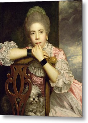 Mrs Abington As Miss Prue In Congreve's 'love For Love'  Metal Print by Sir Joshua Reynolds