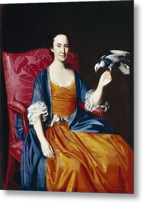 Mrs. Benjamin Hallowell Metal Print by John Singleton Copley