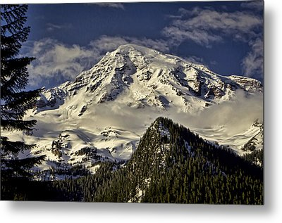 Mt Rainier Metal Print by Heather Applegate