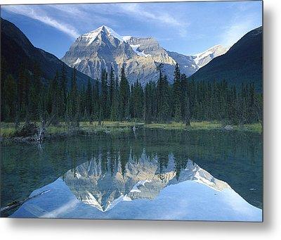 Mt Robson Highest Peak In The Canadian Metal Print by Tim Fitzharris