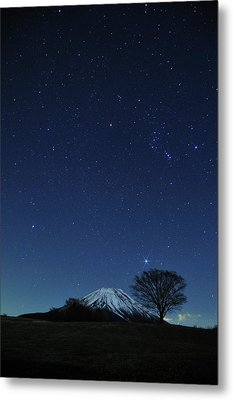 Mt.fuji In Winter Metal Print by Takeshi.K