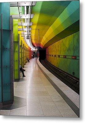 Munich Subway No.2 Metal Print by Wyn Blight-Clark