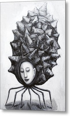 Muse In A Shell Metal Print by Kazuya Akimoto