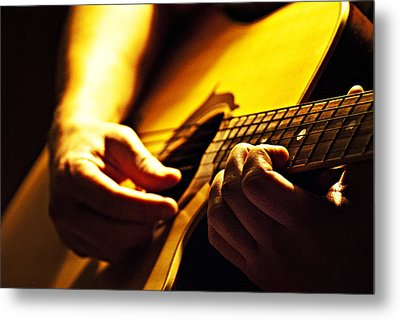 Music Is Passion Metal Print by Christopher Gaston