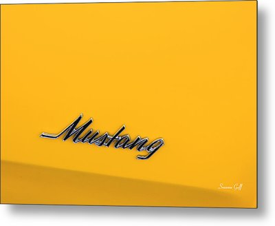 Mustang Metal Print by Suzanne Gaff