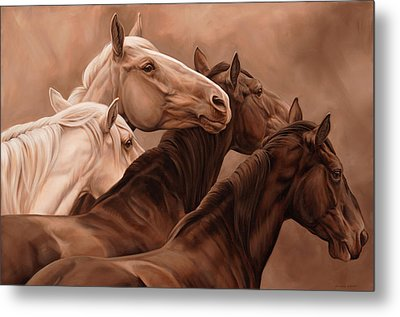Mutual Support Metal Print by JQ Licensing