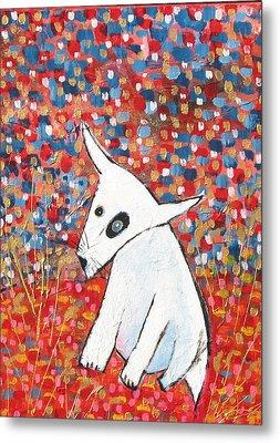 My Dog Blackie Metal Print by Maureen Rocksmoore