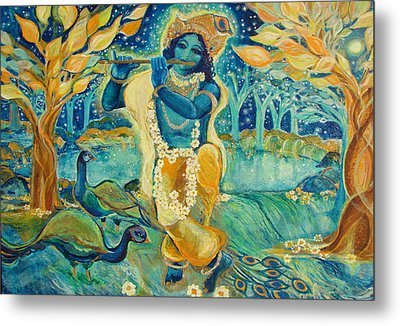 My Krishna Is Blue Metal Print by Ashleigh Dyan Bayer