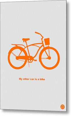 My Other Car Is Bike Metal Print by Naxart Studio