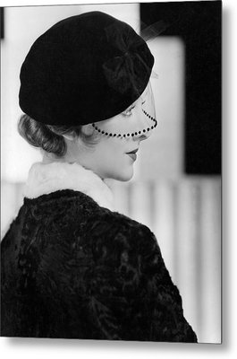Myrna Loy, Mgm Photo By Clarence Metal Print by Everett