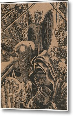 Mysterious Plot Metal Print by Sirenko