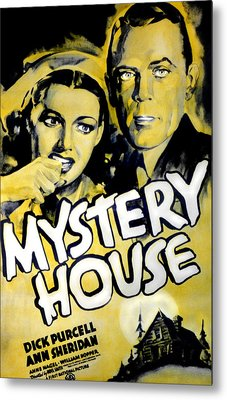 Mystery House, From Left Ann Sheridan Metal Print by Everett