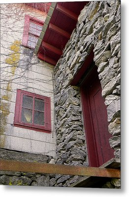 Mystery Of The Red Door Metal Print by Sandi OReilly