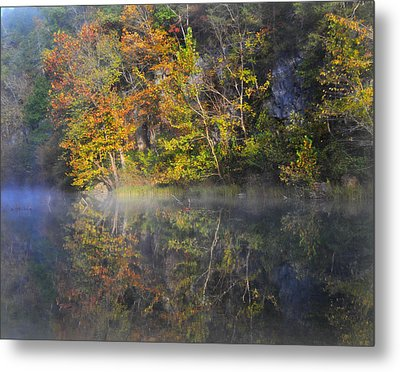 Mysty Morn On The Current Metal Print by Marty Koch