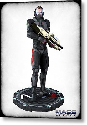 N7 Soldier V2 Metal Print by Frederico Borges