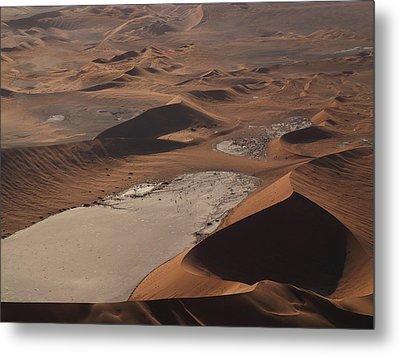 Namibia Aerial IIi Metal Print by Nina Papiorek